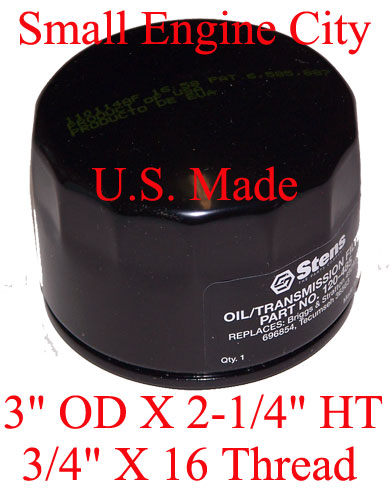 120-485-TE  TECUMSEH OIL FILTER  OHV-130 135 150 155 165 175 180 AND TVT691