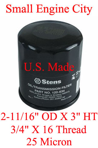 Briggs and Stratton 499532 Oil filter