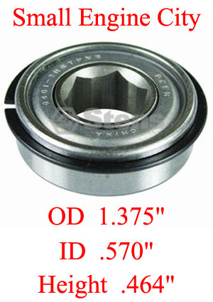 ST-230007  007 Hex Bearing Fits Models:  ARIENS Self-propelled walk behinds 1982 and newer