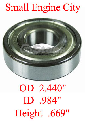 230-090-EX 009 Spindle Bearing Replaces Exmark 1-303057, 1-303543 and 1-363173