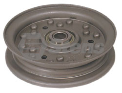 280-850-DC  Dixie Chopper Flat Idler fits 42, 50, 60, and 72 inch decks. 4 3/4 inch OD