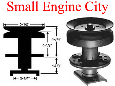 285-031-AY  Spindle Assembly Replaces 105891X / 121687X / 121676X and HUSQVARNA 5321216-87