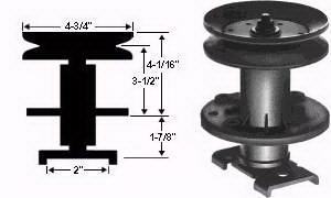 285-205-NO Quill Assembly Replaces 51438 / 56283 / 310240 / 779057 / 50334 / 50335 / 50630 / 313907