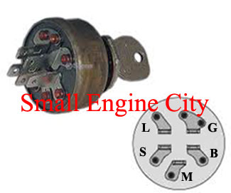 430-538-MT  Ignition Switch  Replaces  MTD 135798, 1734196, 1754207, 1813185, 1813523, 1820080, 1908112, 725-0267A